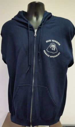 Dub Vendor Reggae Specialist Zip-Front Hooded Sweatshirt - Navy/Cream print